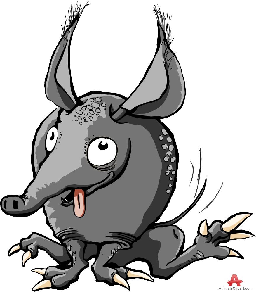 Armadillo clipart vector Character Character Funny Armadillos Cartoon