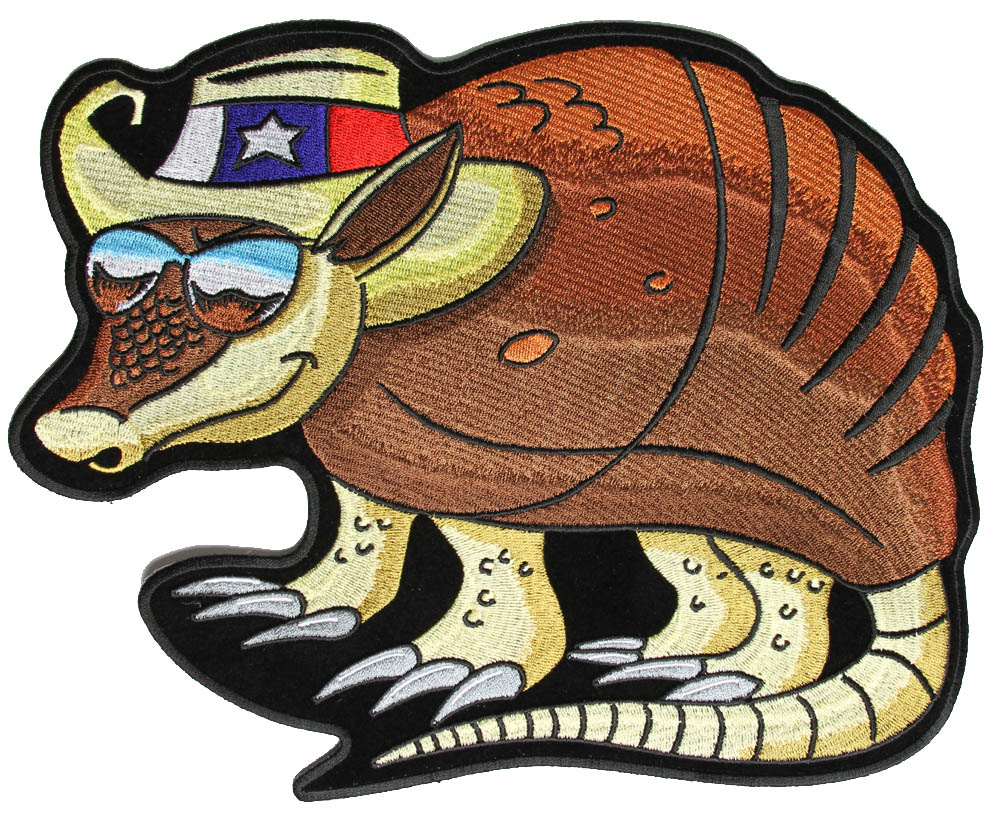Armadillo clipart vector Patches Back Armadillo Patch Texas