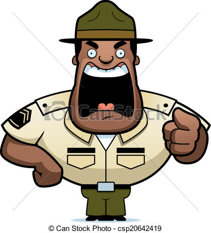 Sergent clipart Angry  sergeant Cartoon army