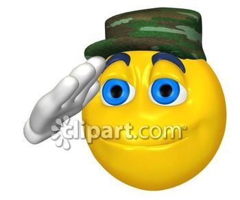 Army clipart emoticon School round face expression Edition