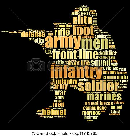 Army clipart infantry #6