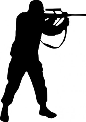 Army clipart silhouette #15