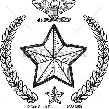 Army clipart sketch Clipart insignia US military US