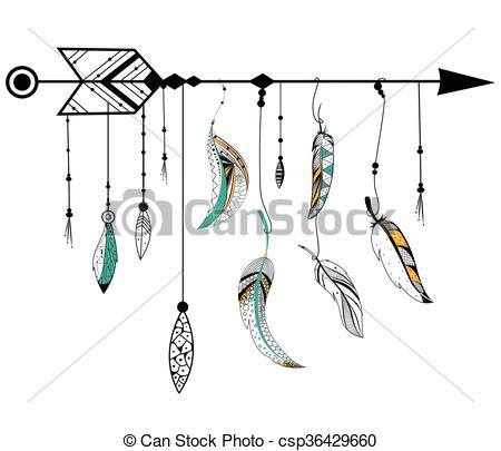 Arrow clipart boho #15