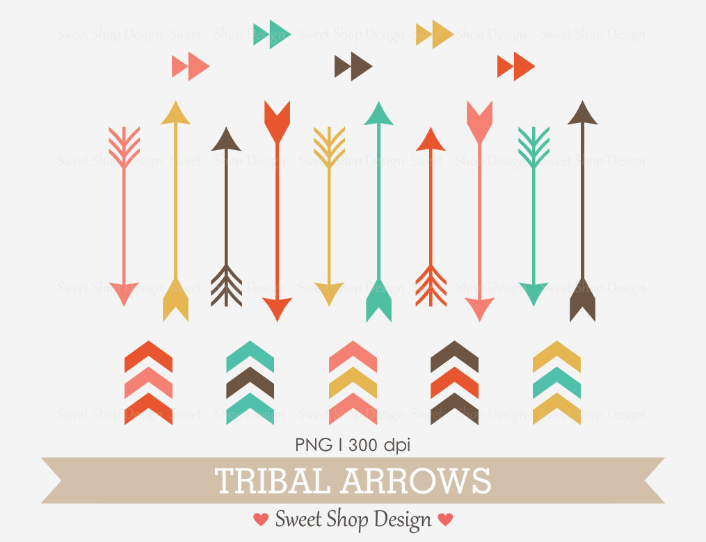 Arrow clipart boho #8