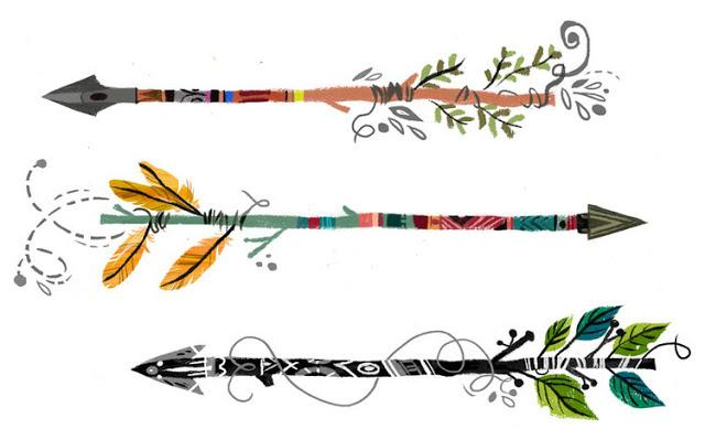 Arrow clipart boho #14