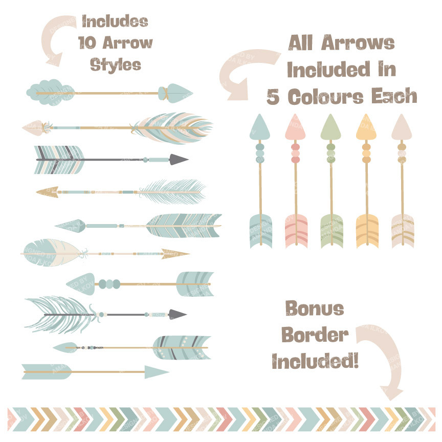 Arrow clipart boho #10