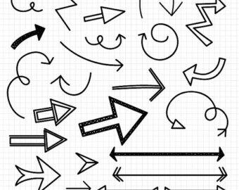 Arrow clipart doodle Hand Doodle Clipart Arrows Download
