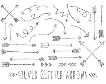 Arrow clipart doodle Clip Drawn Silver  Bronze