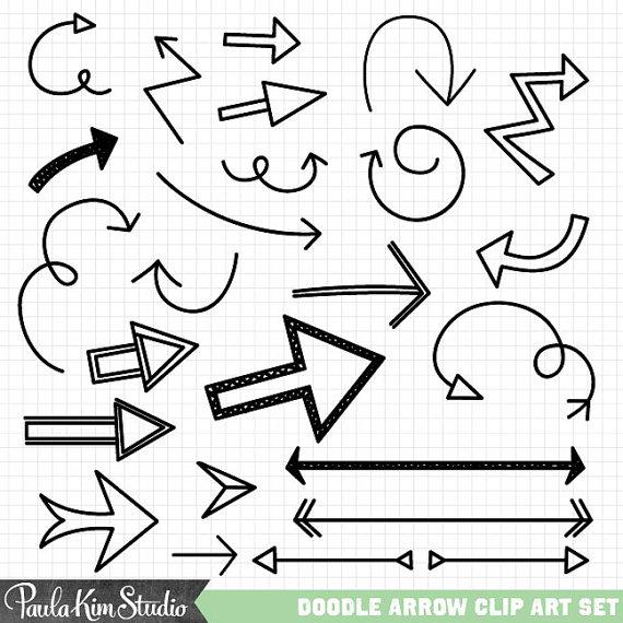 Arrow clipart doodle Hand Doodle Hand Download Clip