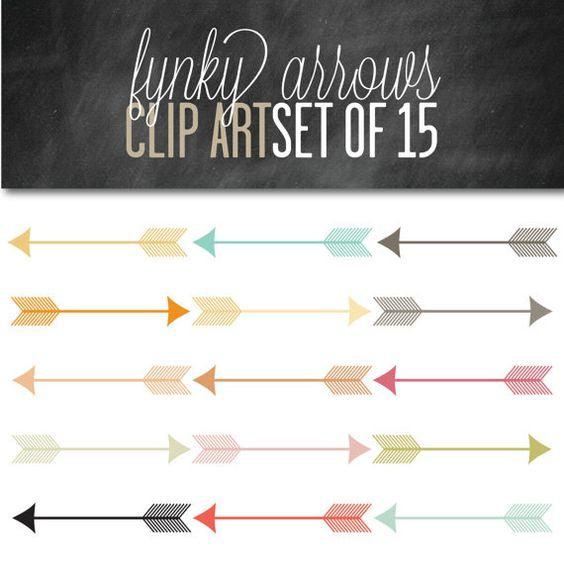 Arrow clipart funky #11