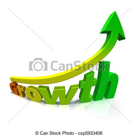 Arrow clipart growth #13