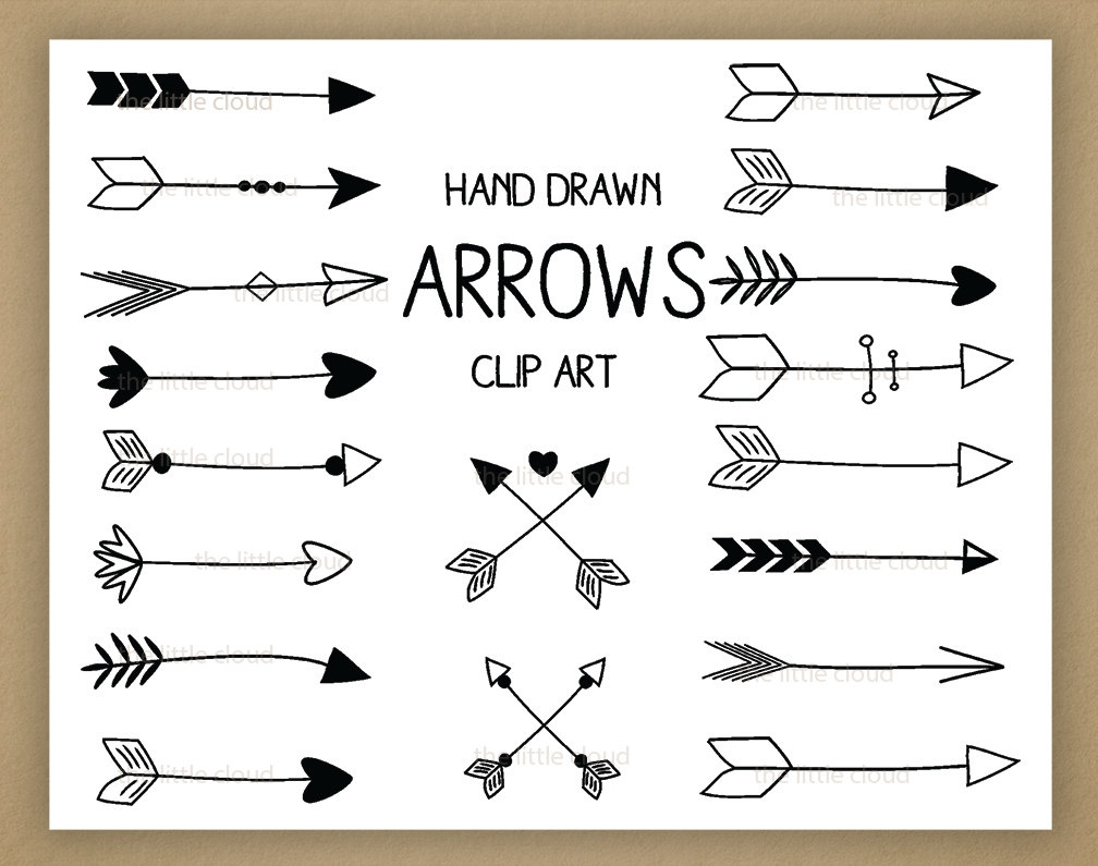 Arrow clipart hand drawn Hand Hand drawn Vintage Clipart#2069975
