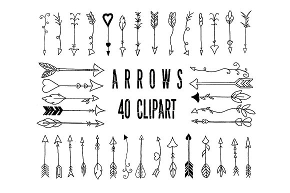 Arrow clipart hand drawn Hand Creative Add Ons hand