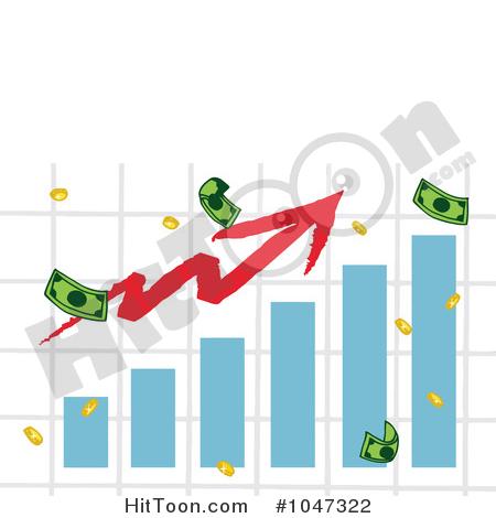 Arrow clipart money Graph Arrow Bar with Bar