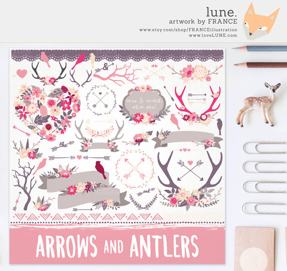 Arrow clipart shabby chic Shabby Branch Clipart Chic 3
