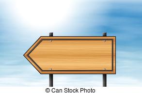 Arrow clipart signboard Clip Art A Illustration signboard