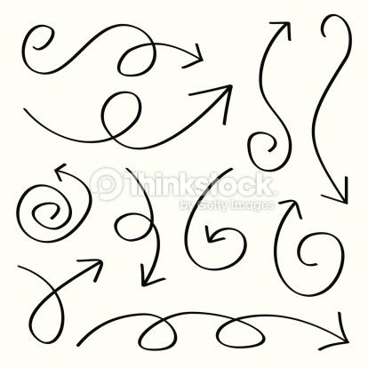 Drawn arrow curly #1
