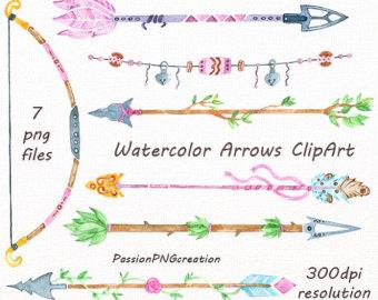 Arrow clipart watercolor #11