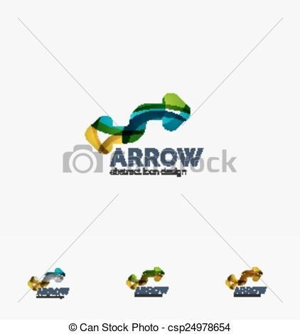 Arrow clipart wave #3
