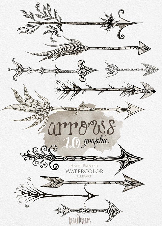 Calligraphy clipart tribal DIY clipart from Instant elements