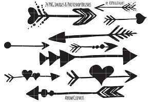 Brush clipart arrow On Set Watercolor Illustrations Clipart