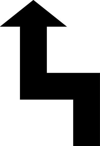 Arrow clipart zig zag Zigzag Line with Arrow Zigzag