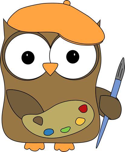 Paint clipart artistic Clip Clip Art Owl and
