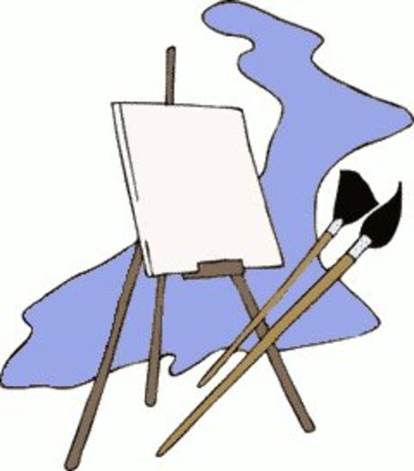 Gallery clipart artist easel Panda art collection clipart Art