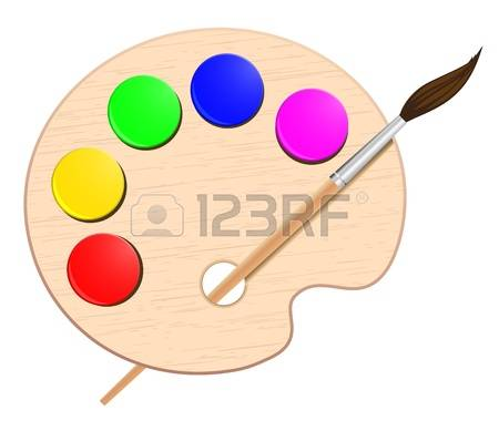 Artistic clipart art pallet Artist palette Clipart Clipart palette: