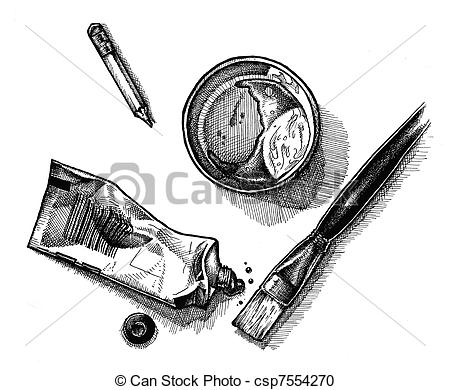 Artistic clipart drawing material Brush paint Stock Art Supplies