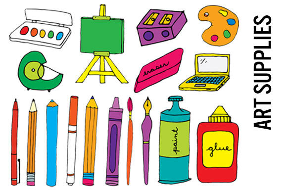 Artistic clipart drawing material Collection Clipart art art supplies