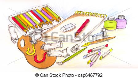 Artistic clipart drawing material Clipart Clipart Images Clipart Panda