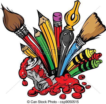 Crayon clipart art supply To  Art csp9050515 Clipart