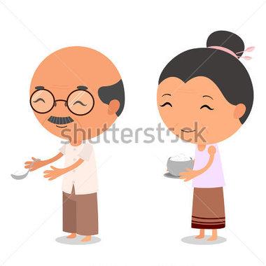 Asian clipart grandma Grandpa grandma cartoon Grandpa And
