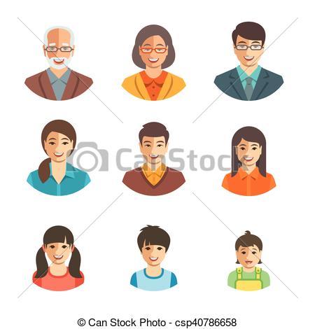 Asian clipart happy family Happy Asian csp40786658 happy family