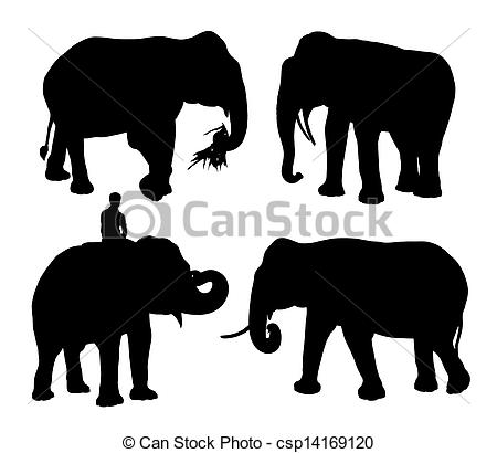 Asians clipart silhouette Asian silhouettes four Illustration