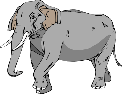 Asian Elephant clipart Clipart Domain of Elephant Public