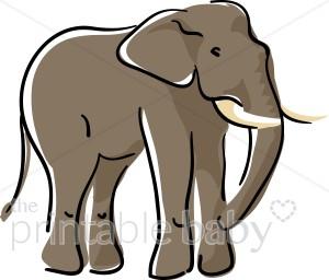 Asian Elephant clipart gray elephant Elephant Jungle Baby Clipart Elephant