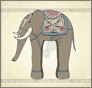 Asian Elephant clipart ornamental The clip vector Greeting Indian