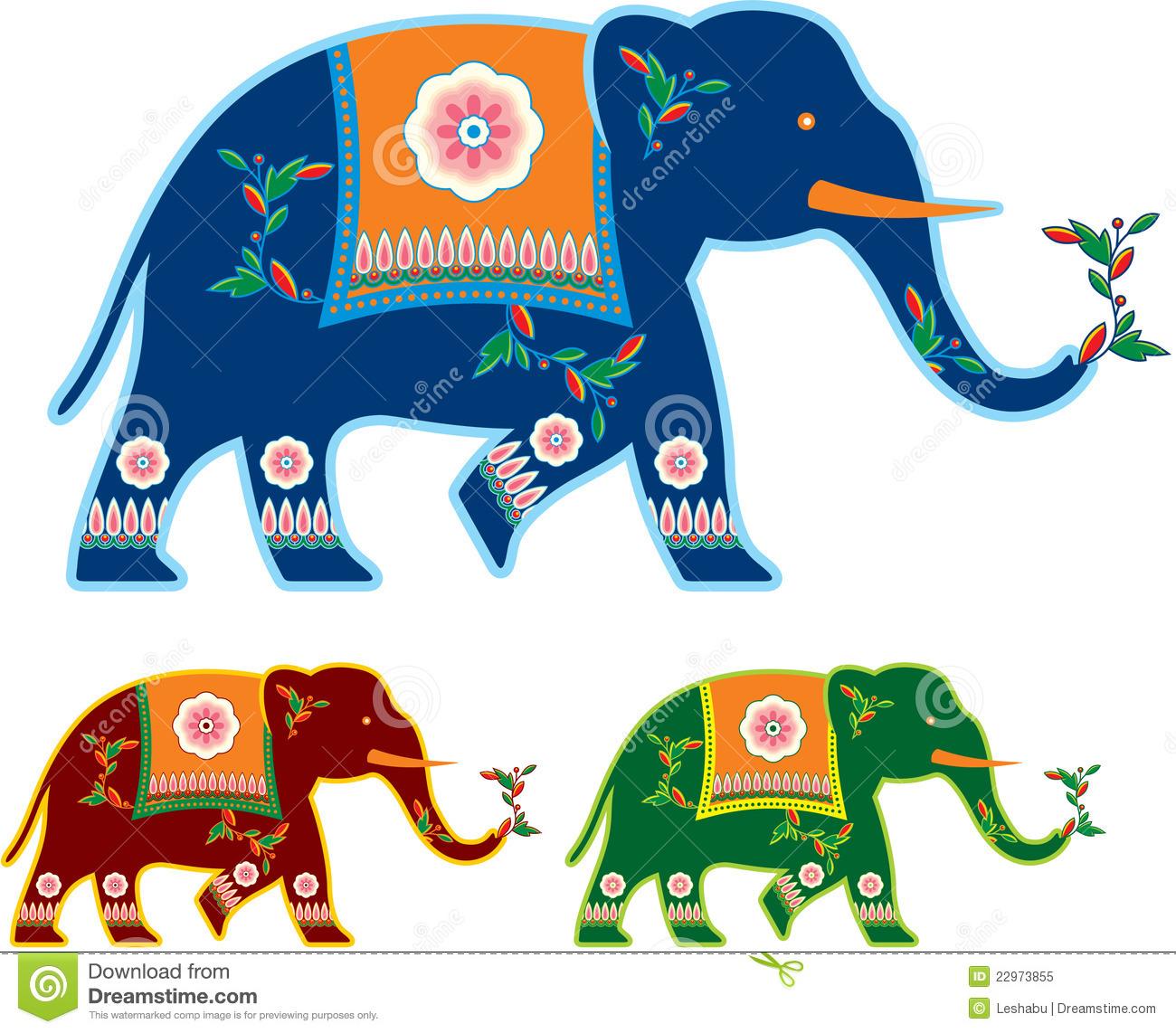 Asian Elephant clipart ornamental Royalty Image: Photo Image Indian