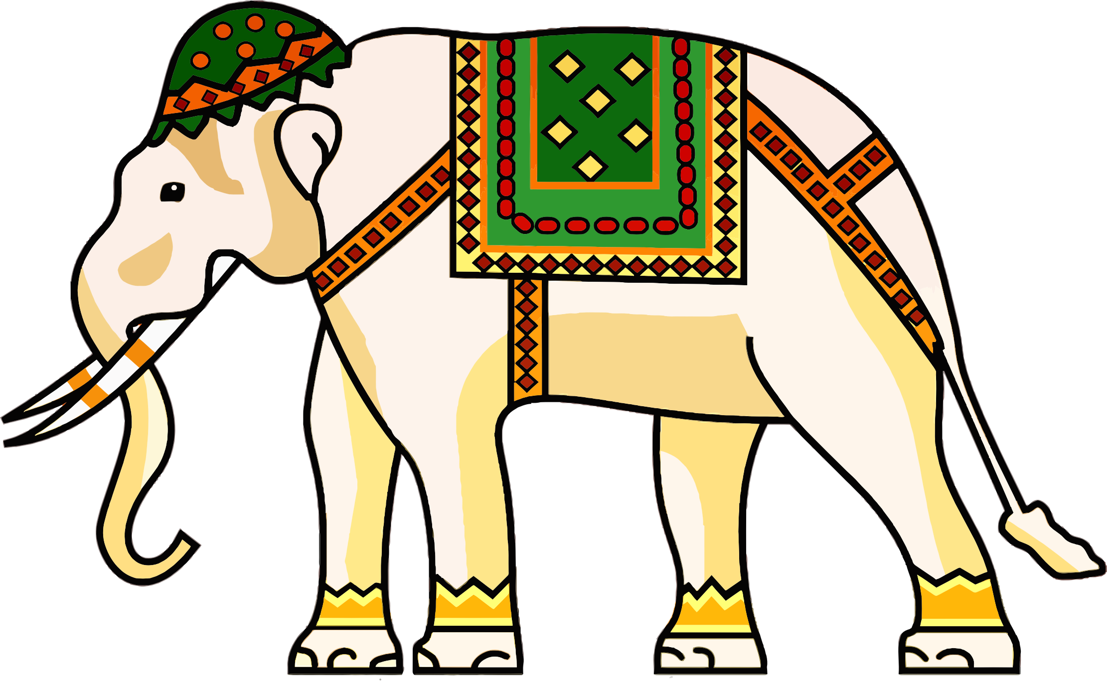 Asian Elephant clipart ornamental Clipart Elephant Decorated Decorated Ornamental