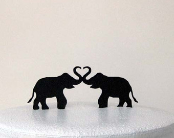 Asian Elephant clipart ornamental Two Cake Wedding Wedding Elephants