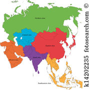 Asians clipart asia map  Map Asia Clipart