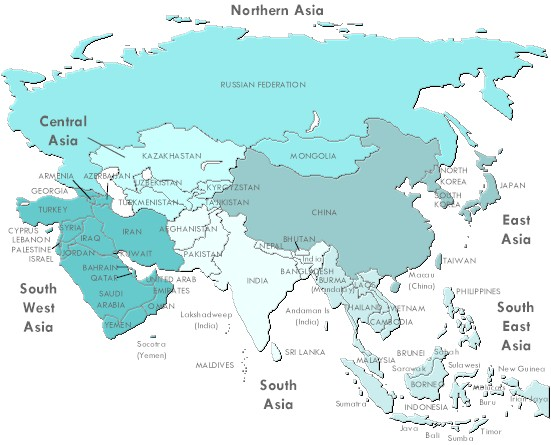 Asians clipart asia map Asia of Free Asia Map