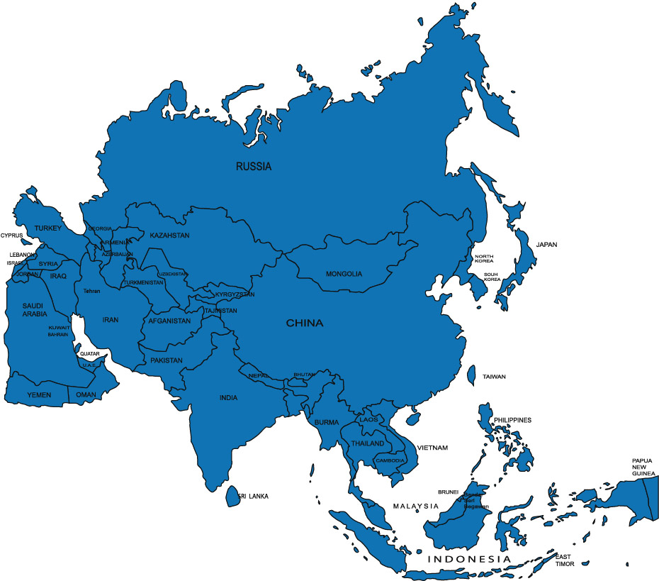 Asians clipart asia map Kids Geography Asia and Kids
