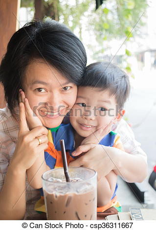 Asians clipart aunt Of and Cute stock and