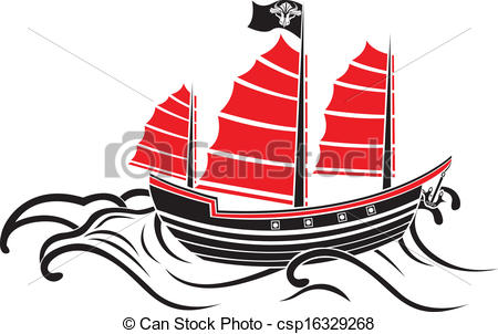 Asians clipart boat  the Asian the waves