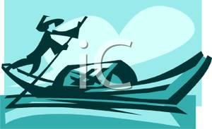 Asians clipart boat A Rowing Asian of A