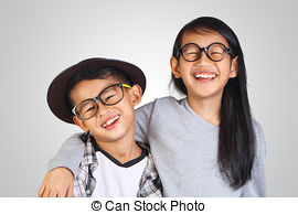 Asians clipart brother and sister Stock Brother of looking and